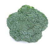 Fresh Raw Green Broccoli. On white background Royalty Free Stock Photography