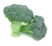 Fresh Raw Green Broccoli. On white background Stock Photo