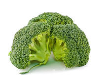 Fresh, Raw, Green Broccoli Pieces. Cut and Ready to Eat Royalty Free Stock Photo