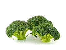Fresh, Raw, Green Broccoli Pieces Stock Image