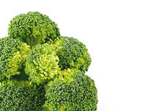Fresh, Raw, Green Broccoli Pieces. Cut and Ready to Eat Stock Image