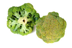 Broccoli vegetable isolated on white background. Fresh, Raw, Green Broccoli Pieces, and Ready to Eat Stock Photo