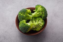 Fresh raw green broccoli. On a table. Diet healthy product Stock Photography