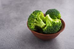 Fresh raw green broccoli. On a table. Diet healthy product Royalty Free Stock Photography