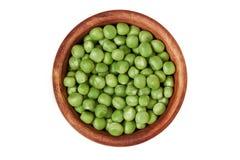 Fresh raw green peas Stock Photos