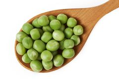 Fresh raw green peas Stock Images