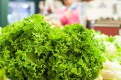 Fresh raw green salad  in market Stock Photo