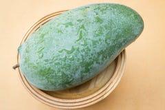 Fresh raw green sweet mango. Stock photo Royalty Free Stock Photos