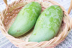 Fresh raw green sweet mango Stock Photography