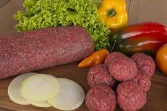 Fresh Raw ground Meat Stock Photos