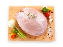 Fresh raw ham. On cutting board Stock Photos