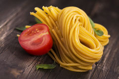 Fresh raw homemade pasta o Royalty Free Stock Images