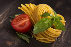 Fresh raw homemade pasta o Stock Image