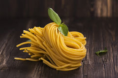 Fresh raw homemade pasta o Royalty Free Stock Image