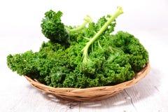 Fresh raw kale. Close up on fresh raw kale stock photography