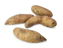 Fresh raw kipfler. Potatoes isolated on white background Stock Image