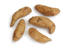 Fresh raw kipfler potatoes Royalty Free Stock Image