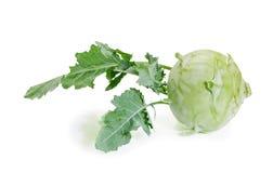 Fresh raw kohlrabi. On a white background Stock Image