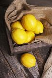 Fresh Raw Lemons Royalty Free Stock Photo