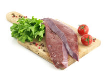Fresh raw liver Stock Images