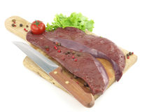 Fresh raw liver Stock Image