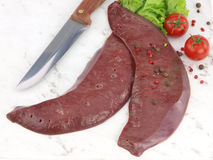 Fresh raw liver Royalty Free Stock Image