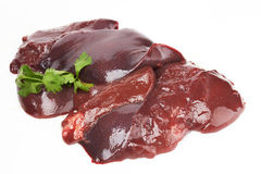 Fresh and raw liver Stock Photo