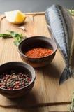 Fresh raw mackerel Royalty Free Stock Photography