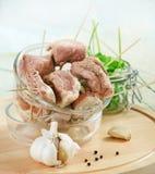 Fresh raw marinated meat Royalty Free Stock Image