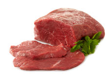 Fresh raw meat. On white background Royalty Free Stock Image