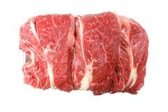 Fresh raw meat. Fresh raw meat isolated against white.  Horizontal orientation Stock Photos