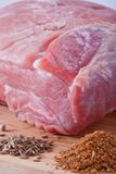 Fresh raw meat. And spices Stock Image