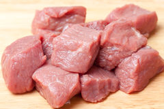 Fresh Raw meat. On a cutting board Royalty Free Stock Photos