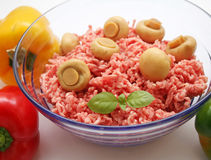 Fresh raw meat. In a bowl Royalty Free Stock Photography