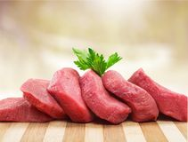 Fresh Raw Meat on Background. Fresh meat raw group objects background market Royalty Free Stock Images