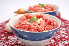 Fresh raw meat. In a bowl Royalty Free Stock Images