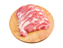 Fresh raw meat. On a chopping board Stock Images