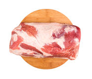 Fresh raw meat. On a chopping board Royalty Free Stock Photos