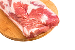 Fresh raw meat. On a chopping board Royalty Free Stock Photography