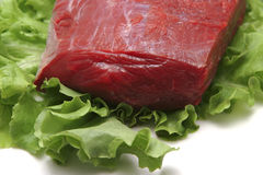 Fresh raw meat close-up Royalty Free Stock Photography