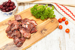 Fresh Raw meat on a cutting board Stock Photography