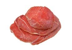Fresh raw meat isolated. On white background Royalty Free Stock Photos