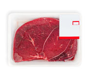 Fresh raw meat. Isolated on white background Stock Photo