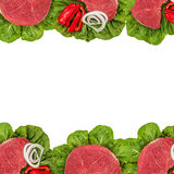 Fresh raw meat. Isolated on white background Stock Image