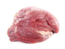 Fresh raw meat isolated on white. Background Stock Photo