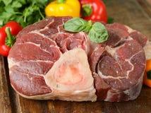 Fresh raw meat ossobuco Royalty Free Stock Photos