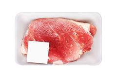 Fresh Raw Meat in package Royalty Free Stock Photos