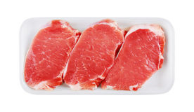 Fresh Raw Meat in package Stock Images