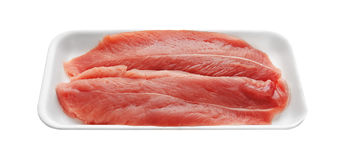 Fresh Raw Meat in package Stock Image