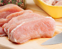 Fresh raw meat. Piece of fresh raw meat Stock Images